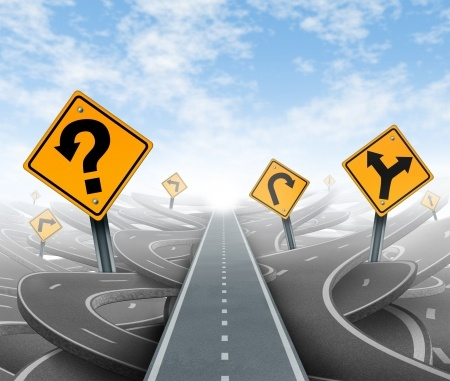 Question-mark-sign-on-road